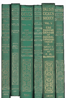 Irish Texts Society: first six publications