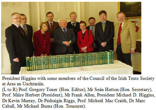 President Michael D. Higgins with the Council of the Irish Texts Society